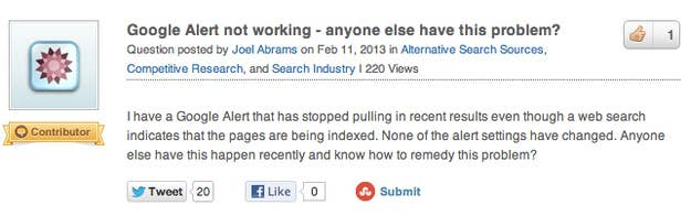 How The @ Reply Killed Google Alerts