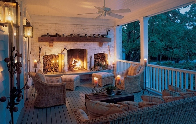 A Fireplace Porch