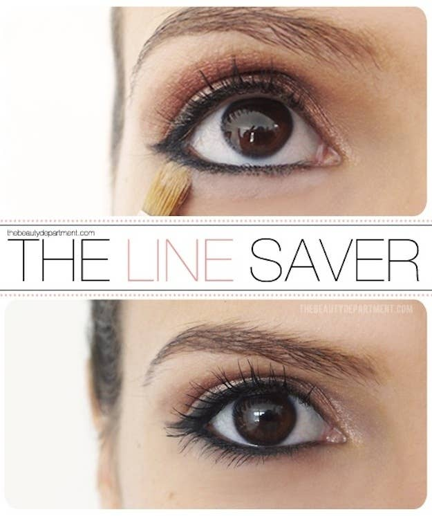 Using a brush, dab and blend concealer directly under your lash line.