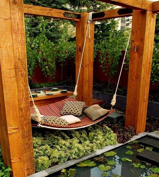 Build a giant hammock swing.