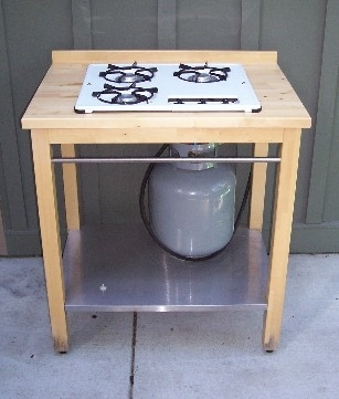Build a stove for an outdoor kitchen with this Ikea hack.