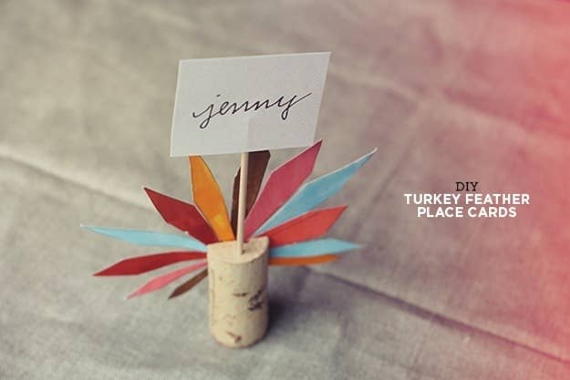 35 cute and clever ideas for place cards cork turkey place cards solutioingenieria Images