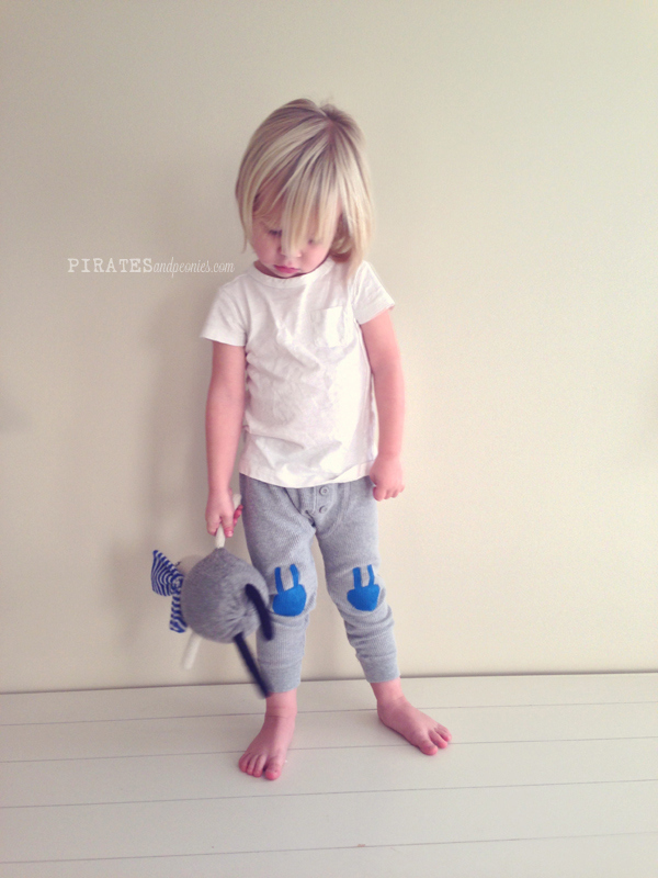 Get the kids Easter-ready with simple DIY bunny pants.