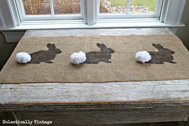 Craft a burlap table runner.