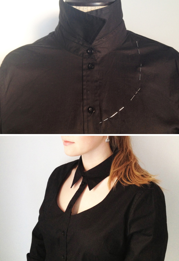 Turn a regular old button-down shirt into something much more on trend.