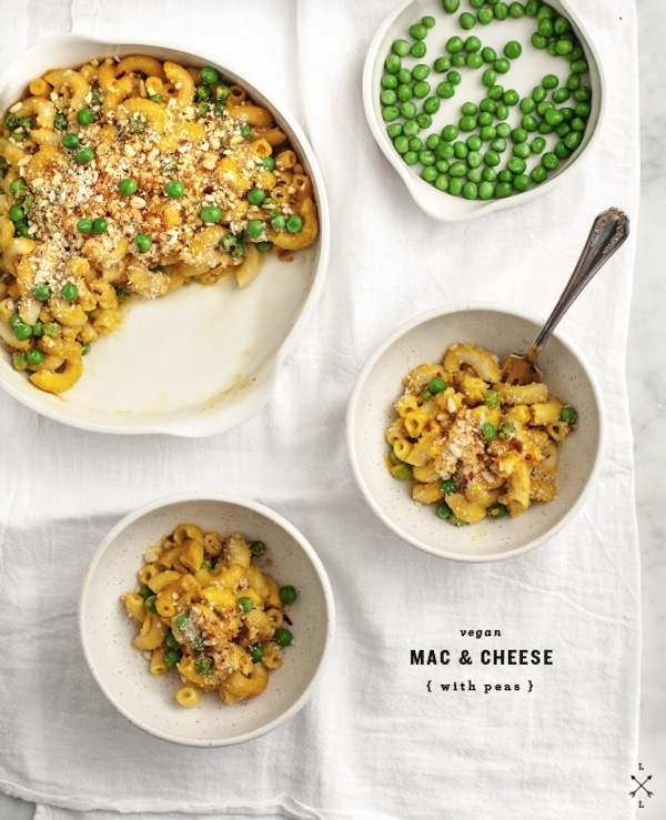 Vegan Mac And Cheese With Peas