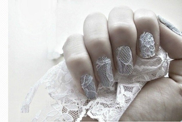 Here is how to do lace nails.