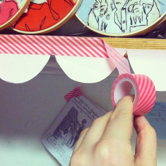 Make scalloped borders for your shelves.