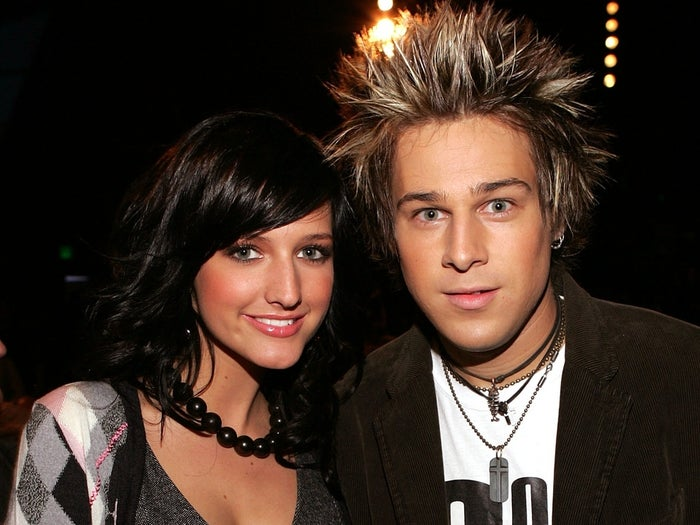 He famously dated Ashlee Simpson before Pete Wentz. Here they are in 2004.