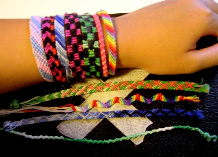 ...your arm was covered in a rainbow of macrame.