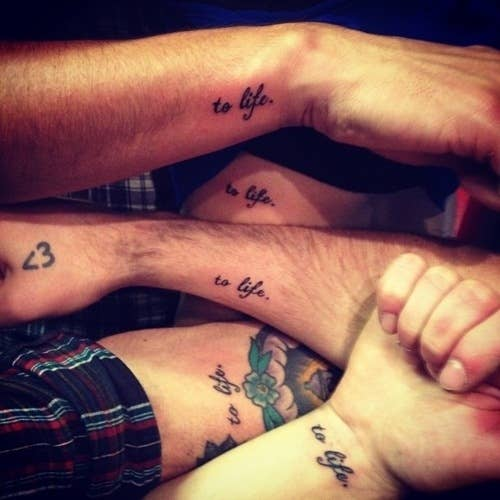 485e3f6f077 74 Matching Tattoo Ideas To Share With Someone You Love