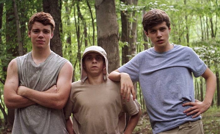 Gabriel Basso (The Big C), Moises Arias (Hannah Montana), and Nick Robinson (Melissa & Joey) in The Kings of Summer