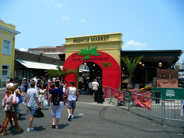 The vine-ripe Creole Tomato is an actual vegetable crop that flourishes in New Orleans every June, and its arrival (and various incarnations, including a special Bloody Mary) is celebrated with a weekend-long takeover of the French Market – the nation's oldest citywide marketplace on record, opened in 1791.