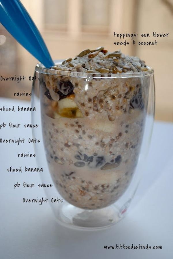 Make oats overnight in your fridge.