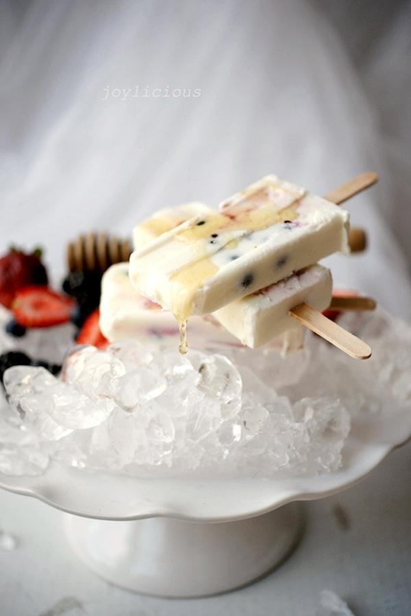 Make yogurt and fruit popsicles for a summer morning.