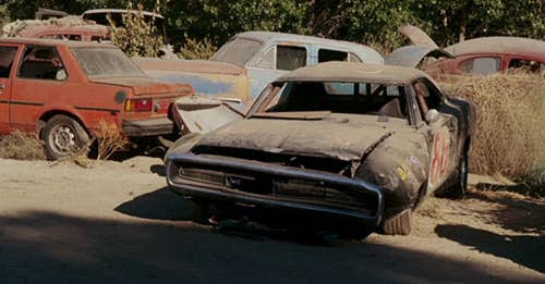 Because of course there is. Eagle-eyed Fast fans may have noticed an incredibly familiar sight in the family film's early junkyard scene: none other than the 1970 Dodge Charger driven by one Dominic Toretto in the original Fast & Furious. Which can mean only one thing: Fast & Furious and Herbie: Fully Loaded confirmed to take place in the same universe? We're gonna say yes.