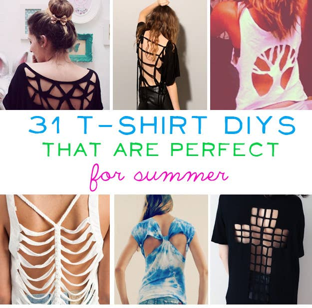 7ee6c08020fb 31 T-Shirt DIYs That Are Perfect For Summer