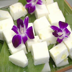 Haupia is a traditional Hawaiian coconut pudding - This recipe brings the best of both worlds together by adding pineapple to this traditional Hawaiian dessert. Get Recipe