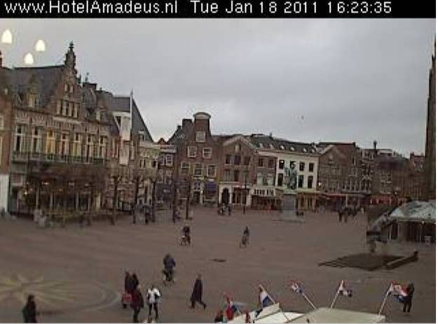 While watching a hotel live cam, someone noticed three mysterious lights that were floating for 30 minutes. The light then faded away into the sky. One might argue that it's just reflecting light, but light doesn't reflect so vividly. We all know what that light means... just aliens visiting the Netherlands. For more evidence read the whole story here.