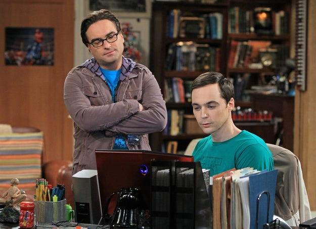 This image released by CBS shows Johnny Galecki (left) and Jim Parsons in a scene from The Big Bang Theory.