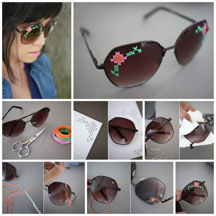 db92fcb1e57 27 Inspired Ways To Decorate Your Sunglasses