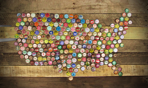 20 rad things you can make with bottle caps for Cool beer cap ideas
