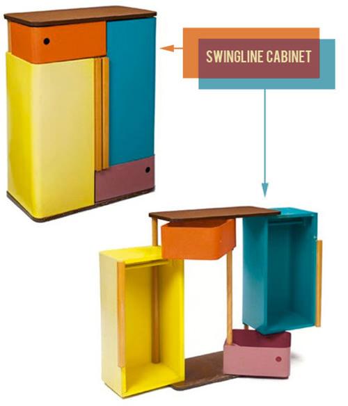 Swinging Cabinet