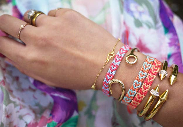 Want to wear your heart on your sleeve? Learn how to make this adorable bracelet here.