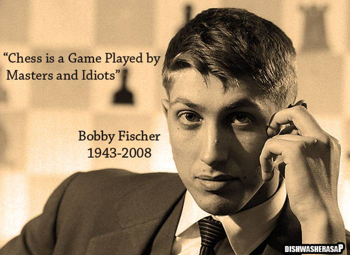 Lost Bobby Fischer notes reveal strange quote.