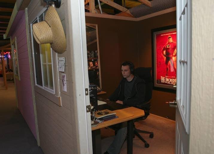 pixar office. Animator Michal Makarewicz In His Office At Pixar
