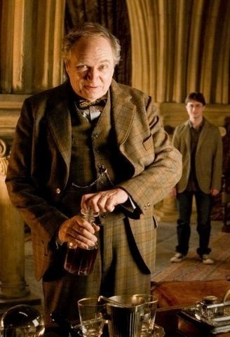 As professor Horace Slughorn in Harry Potter and the Half-Blood Prince