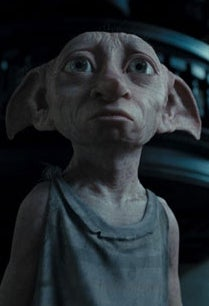 As Dobby the House Elf in Harry Potter and the Chamber of Secrets