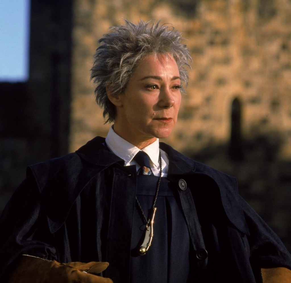 As Madame Hooch in Harry Potter
