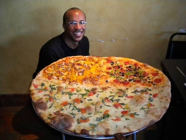 The 18 most insane food challenges ever 1 the 11 pound carnivore pizza challenge forumfinder Images