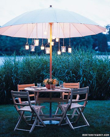Have an early dinner party outside, and sit around talking past when it gets dark.
