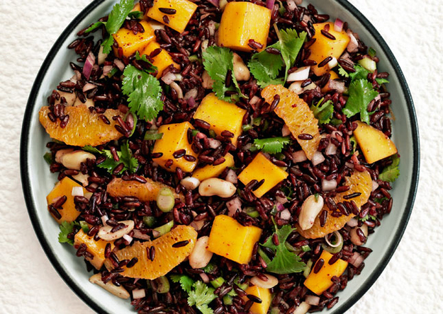 Make this incredible black rice salad.
