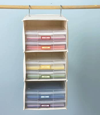 2 Use A Sweater Holder To Organize Construction Paper