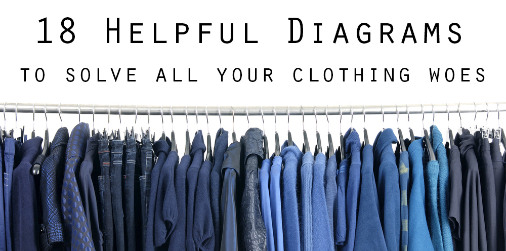 18 Helpful Diagrams To Solve All Your Clothing Woes