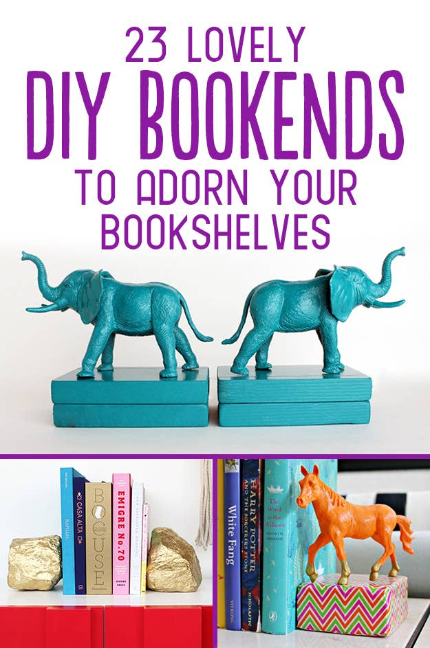 23 lovely diy bookends to adorn your shelves share on facebook share solutioingenieria Gallery