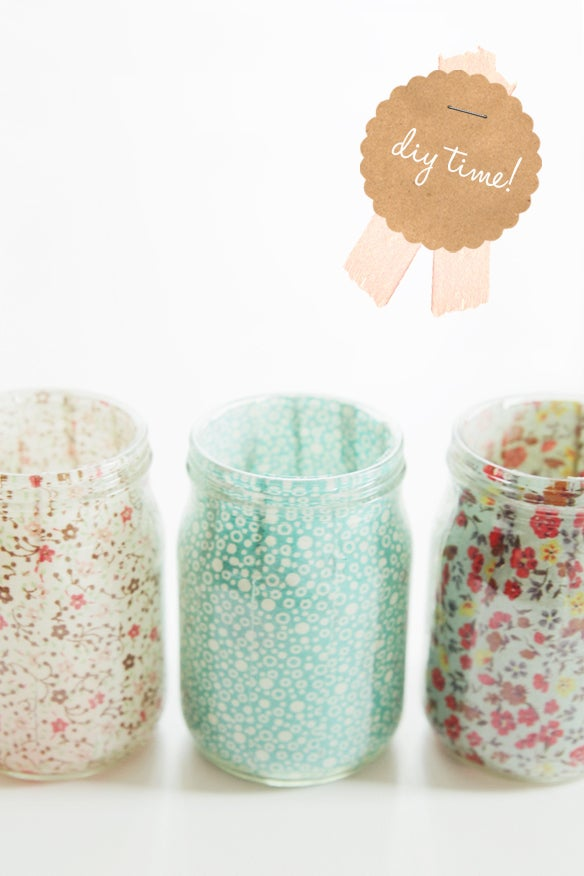 26 place some electric tealight candles in jars