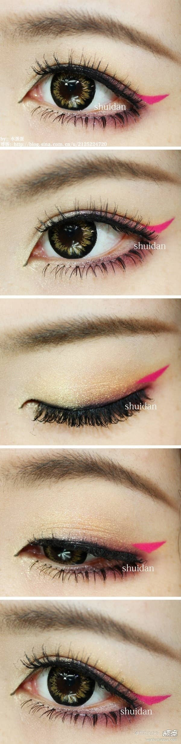 19 awesome eye makeup ideas for asians 4 add a tiny flick of hot pink at the corners baditri Choice Image