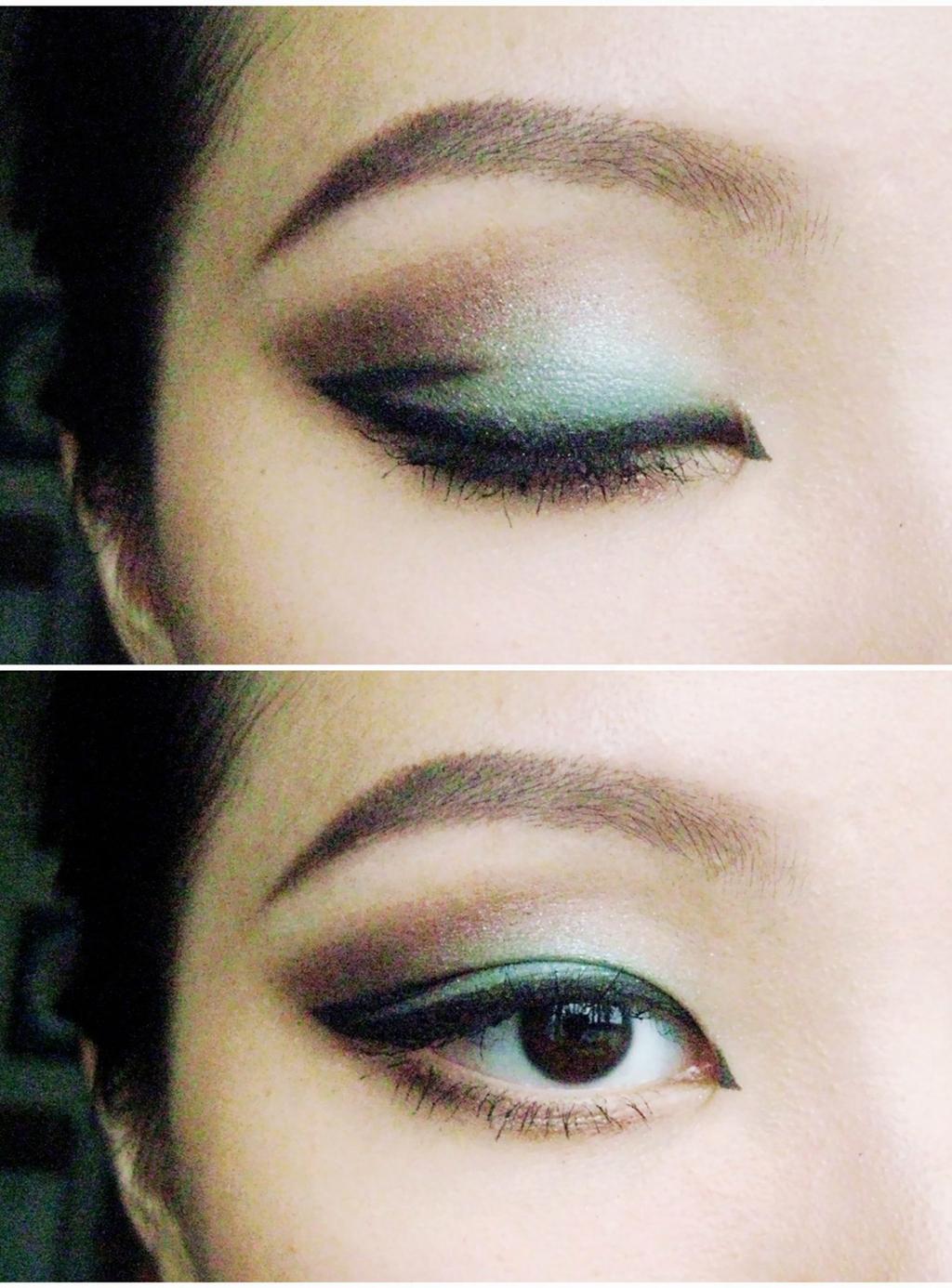 esta mirada se crea con sombra de ojos verde en el