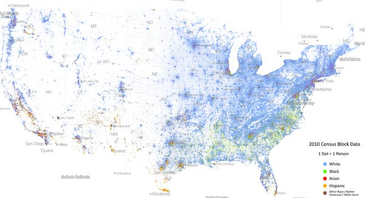 This Map Of Race In America Is Pretty Freaking Awesome - Us census map by race