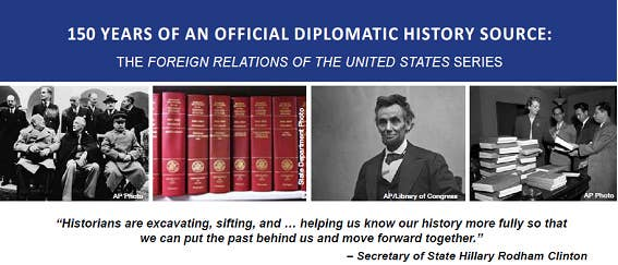 I'd just like to thank the University of Wisconsin for hosting (almost) the entire Foreign Relations of the United States collection on its site.