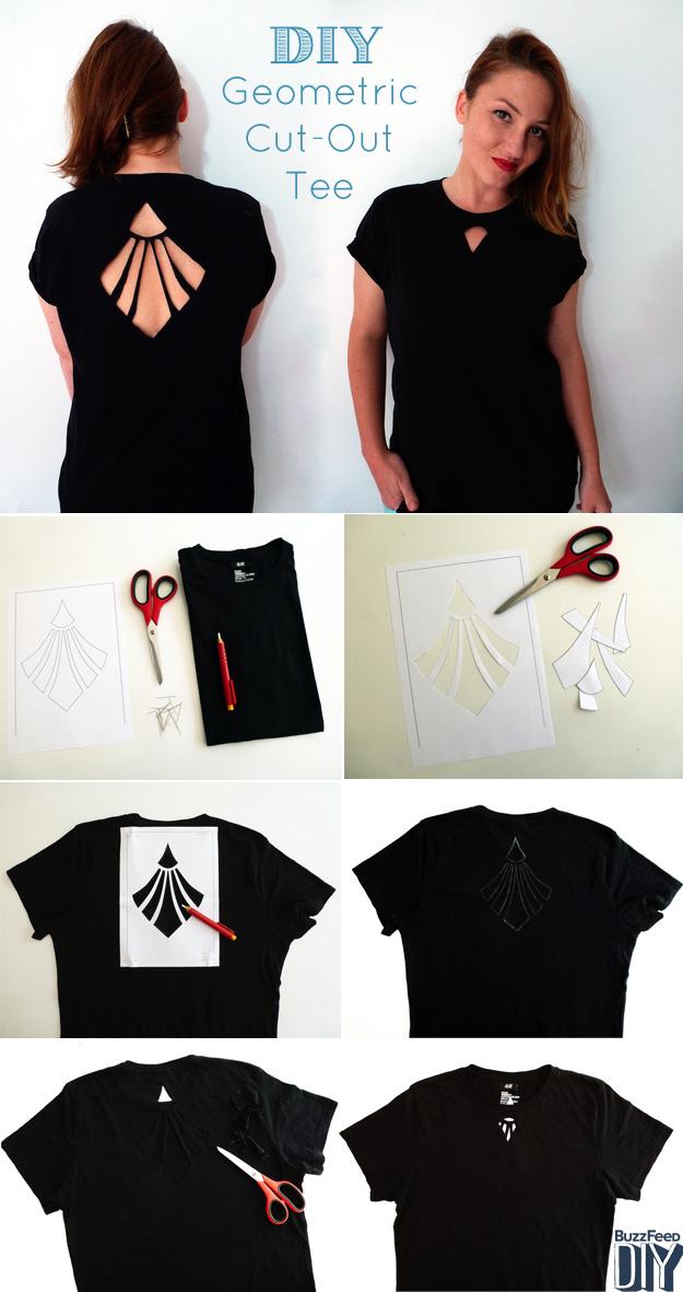Hora de atualizar todas as camisetas de verão de seu guarda-roupa com recortes.