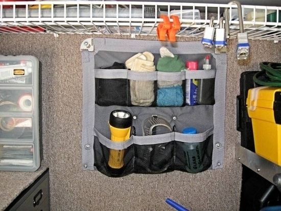 Shoe organizers provide convenient storage anywhere.