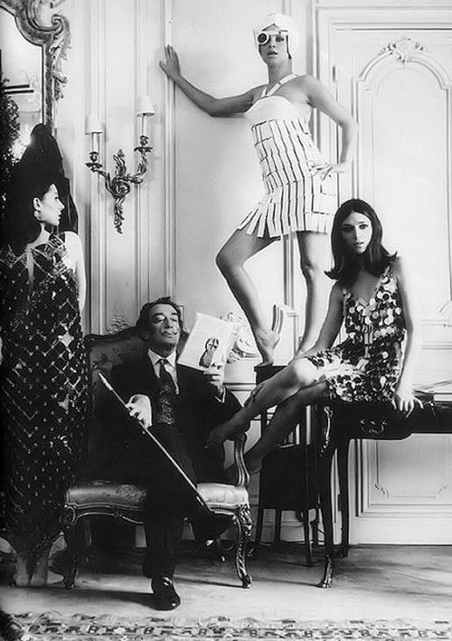 Salvador Dalí With Models, '60s