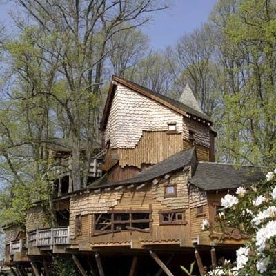"""Inspired by a survey's findings that one-third of children """"aren't allowed to climb trees,"""" the Duchess of Northumberland commissioned what would become one of the largest tree houses in the world. Because YOLO, you know? Read more"""
