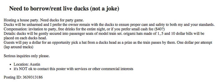 Because who doesn't want to have a crazy beer pong-duck chasing party game? DUH.