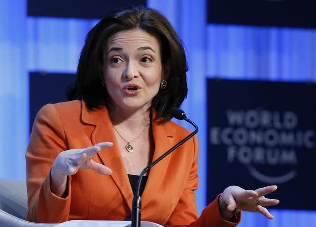 Facebook's Sheryl Sandberg attends the annual meeting of the World Economic Forum (WEF) in Davos, Jan. 25, 2013.